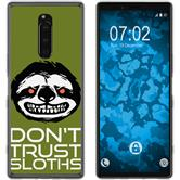 Sony Xperia 1 Silicone Case Crazy Animals sloth M3