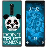 Sony Xperia 1 Silicone Case Crazy Animals Panda M2