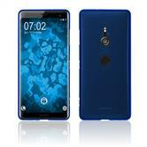 Silicone Case Xperia XZ3 matt blue Cover