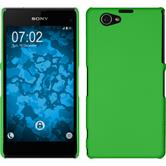 Hardcase for Sony Xperia Z1 Compact rubberized green