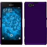 Hardcase for Sony Xperia Z1 Compact rubberized purple