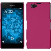Hardcase for Sony Xperia Z1 Compact rubberized hot pink