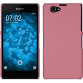 Hardcase for Sony Xperia Z1 Compact rubberized pink