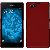 Hardcase Xperia Z1 Compact gummiert rot