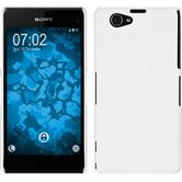 Hardcase for Sony Xperia Z1 Compact rubberized white