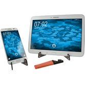 Support universel orange à rabat pour smartphone/tablette