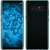 Silicone Case Galaxy Note 8 transparent turquoise + Flexible protective film