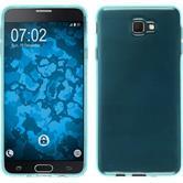 Silicone Case Galaxy J7 Prime transparent turquoise + protective foils