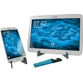 Foldable all-purpose smartphone stand in blue