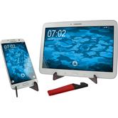 Foldable all-purpose smartphone stand in red