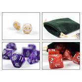 42 polyedrische Würfel 6 Farben & Beutel - Rollen-Spiele Dungeons & Dragons D&D