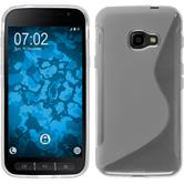Silicone Case Galaxy Xcover 4 S-Style transparent + protective foils