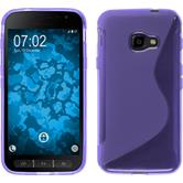 Silicone Case Galaxy Xcover 4 S-Style purple + protective foils