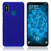 Hardcase Mi 8 rubberized blue Cover