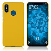 Hardcase Mi 8 rubberized yellow Cover