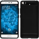 Silicone Case Mi 5s Ultimate black + protective foils