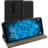 Artificial Leather Case Xperia 1 Bookstyle black Cover