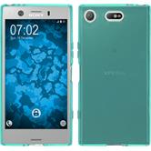 Silicone Case Xperia XZ1 Compact transparent turquoise Case