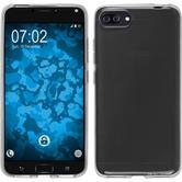 Silikon Hülle Zenfone 4 ZE554KL transparent Crystal Clear + 2 Schutzfolien
