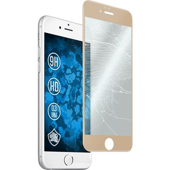 1x iPhone 6s / 6 klar full screen mit abgerundeten Ecken Glasfolie gold