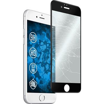 1x iPhone 6s / 6 klar full screen mit abgerundeten Ecken Glasfolie schwarz