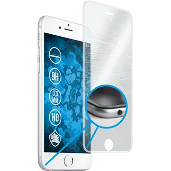 1x iPhone 6s / 6 klar full screen Glasfolie mit Silikonrahmen klar