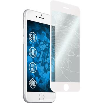 1 x Apple iPhone 6s / 6 Protection Film Tempered Glass clear curved white