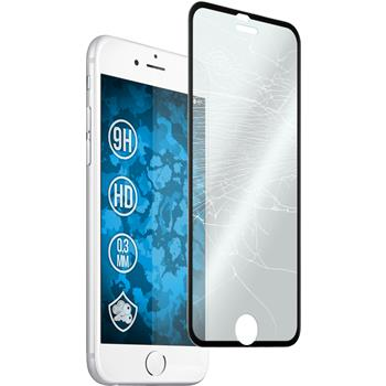 1 x Apple iPhone 6s / 6 Protection Film Tempered Glass clear curved with Metal frame in black
