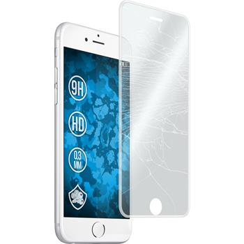 1 x Apple iPhone 6s / 6 Protection Film Tempered Glass clear curved with silicone frame