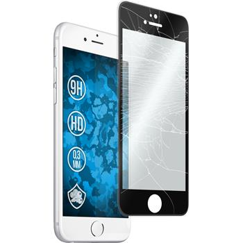 1 x Apple iPhone 6s / 6 Protection Film Tempered Glass clear curved with silicone frame black