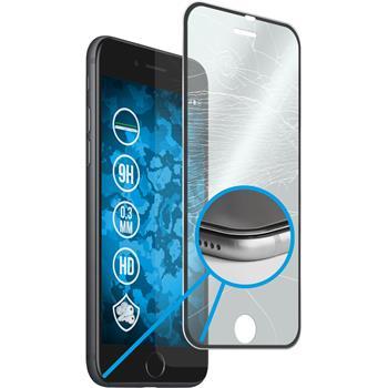 1x iPhone 7 Plus klar full screen Glasfolie mit Metallrahmen in schwarz