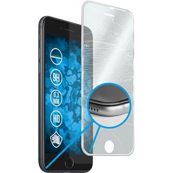 1 x Apple iPhone 7 Plus Glas-Displayschutzfolie klar full screen mit Metallrahmen in silber
