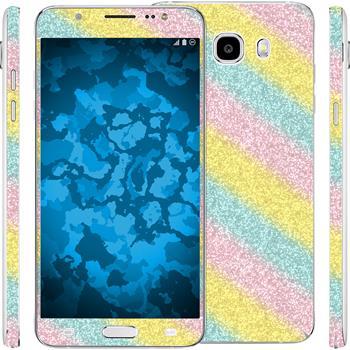 1 x Glitter foil set for Samsung Galaxy J5 (2016) J510 rainbow protection film