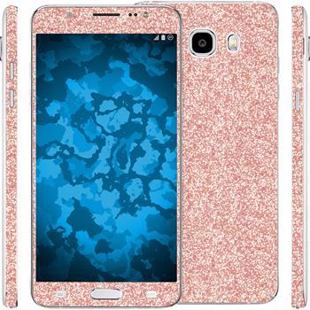 1 x Glitter foil set for Samsung Galaxy J5 (2016) J510 Rose Gold protection film