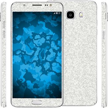 1 x Glitter foil set for Samsung Galaxy J5 (2016) J510 silver protection film