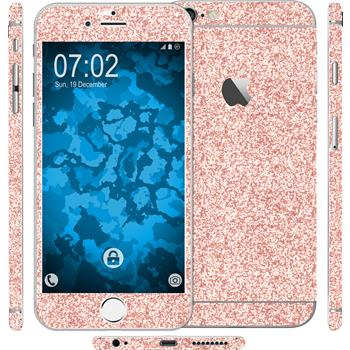 1 x Glitzer-Folienset für Apple iPhone 6 Plus / 6s Plus rosa