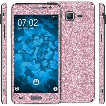 1 x Glitzer-Folienset für Samsung Galaxy Grand Prime rosa