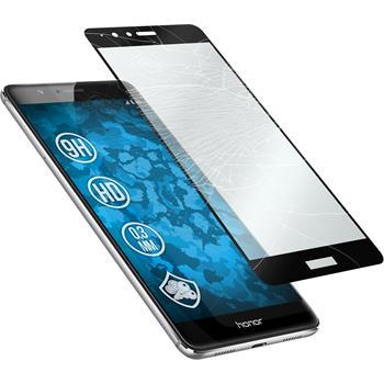 1 x Huawei Honor V8 Glas-Displayschutzfolie klar full screen schwarz