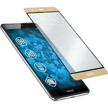 1 x Huawei Honor V8 Protection Film Tempered Glass clear full screen gold