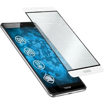1 x Huawei Honor V8 Protection Film Tempered Glass clear full screen white