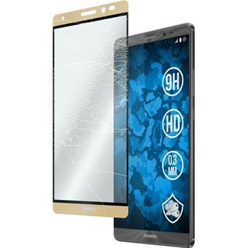 1 x Huawei Mate 8 Glas-Displayschutzfolie klar full screen gold