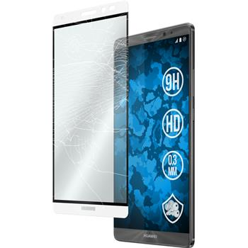 1 x Huawei Mate 8 Protection Film Tempered Glass clear full screen white