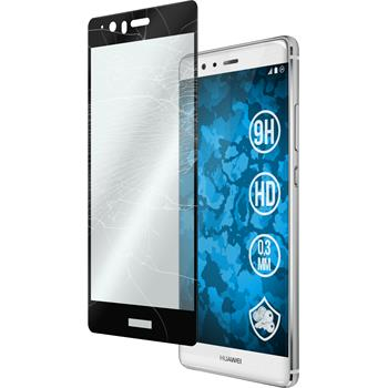 1x P9 Plus klar full screen Glasfolie schwarz