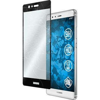 1 x Huawei P9 Protection Film Tempered Glass clear full screen black