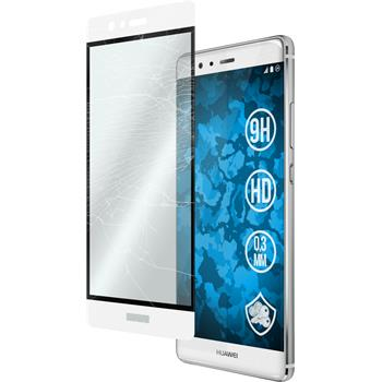 1 x Huawei P9 Protection Film Tempered Glass clear full screen white