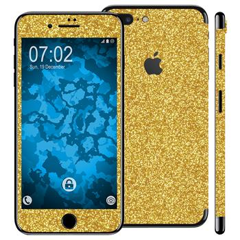 1 x Glitzer-Folienset für Apple iPhone 7 Plus gold