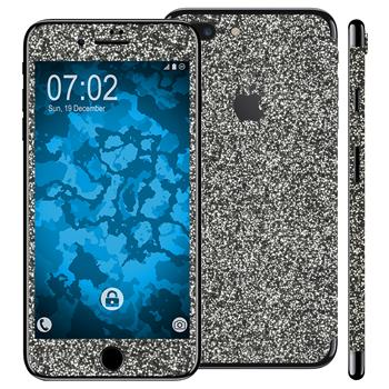 1 x Glitzer-Folienset für Apple iPhone 7 Plus schwarz