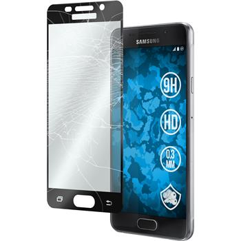 1 x Samsung Galaxy A3 (2016) A310 Protection Film Tempered Glass clear full screen black