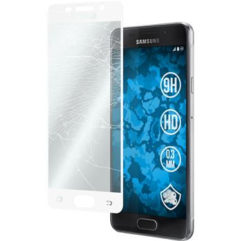 1 x Samsung Galaxy A3 (2016) A310 Protection Film Tempered Glass clear full screen white