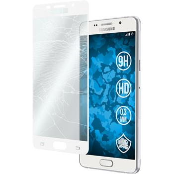 1x Galaxy A5 (2016) A510 klar full screen Glasfolie weiß
